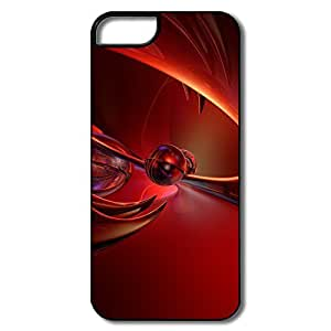 Personalized Protective PC Shockproof Red Art Iphone 5s Cases