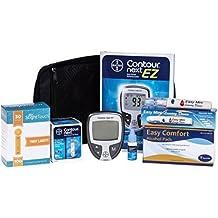 Kit De Prueba Para Diabetes Con Medidor De Glucosa, Tiras Reactivas, Lancetas Y Algodón