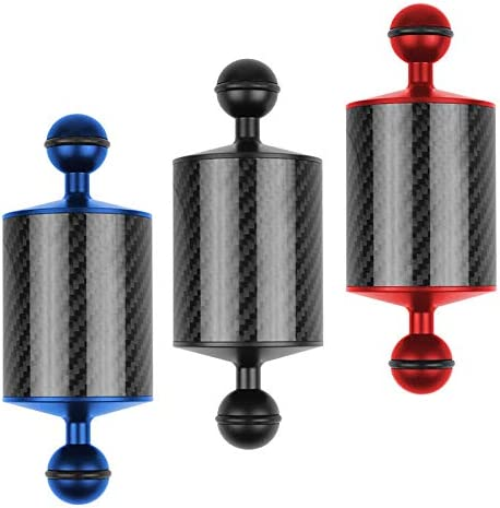 BEESCLOVER 5//8//10//12 Inch Carbon Fiber Float Buoyancy Aquatic Arm Dual Ball Floating Arm Diving Camera Underwater Diving Tray Blue 12 incheselectronic Product
