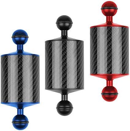 Redcolourful 5//8//10//12 Inch Carbon Fiber Float Buoyancy Aquatic Arm Dual Ball