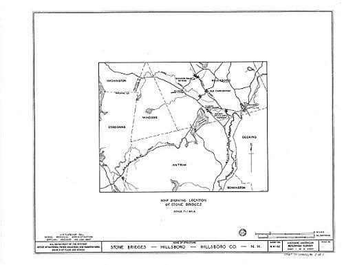 HistoricalFindings Photo: Stone Bridges (Map),Hillsboro,Hillsborough County,NH,New Hampshire,HABS,1