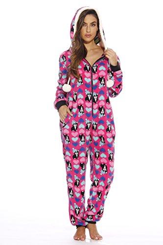 6293-S Just Love Adult Onesie Pajamas, Luv Pug, -