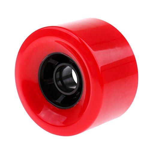卒業記念アルバムチューリップ手書きBaoblade ロングボード スケートボード 高強度 PU ウィール ホイール 衝撃吸収 全3色 - 赤