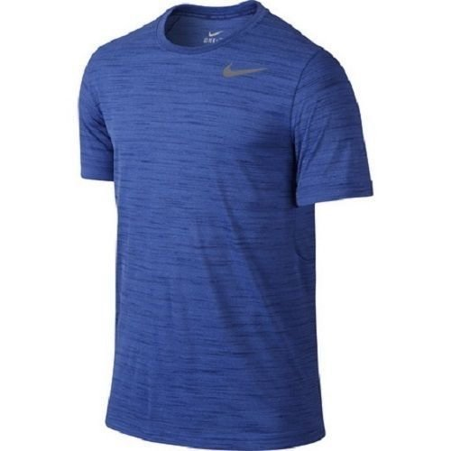 Nike Dri-FIT Touch Heathered Men's Training Running Top Shirt 789982 480 Blue Size XLarge