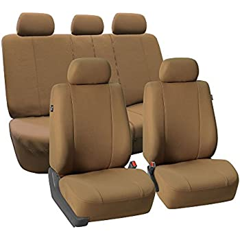 FH GROUP FB052115 Full Set Multifunctional Flat Cloth Car Seat Covers Airbag Ready