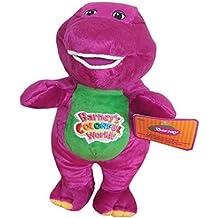 "AutoKing® Best Pal Barney Dinosaur Hug Singing I Love You Musical Colorful World Plush Doll 8"""