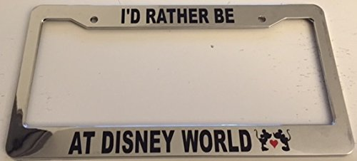 chrome license plate frame disney - 4
