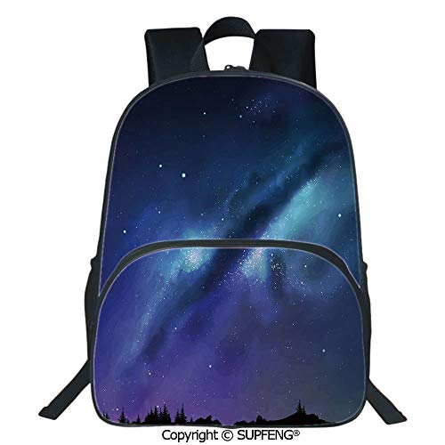 SCOXIXI Laptop Backpack Milky Way Inspired Nebula Cluster Galaxy Fantastic Cosmos Constellation Decorative (15.75