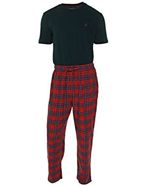 Men's Blue Plaid Pajama Pants