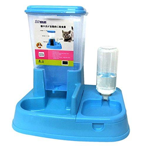 UHeng Pet Dog Cat Automatic Pet Feeder Drinker Dispenser Food Water Bowl