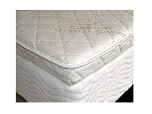 3 Inch Pure 32 ILD Talalay Latex Foam Mattress Pad with Organic Cotton Cloth Top – in King