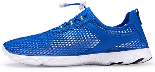 MOERDENG Männer leichte schnell trocknende Aqua Water Schuhe Blau