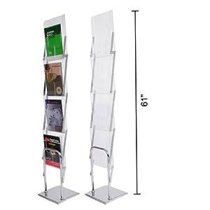 Amazon Com Folding Literature Stand Floor Magazine Rack