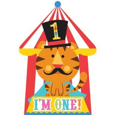 [Fisher Price Circus 1st Birthday Invitations (8) Invites Birthday Party Supplies] (Circus Theme Costume Ideas)