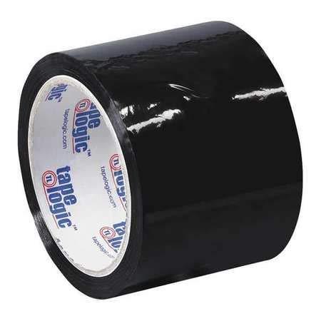 Carton Sealing Tape, 3x55 yd, Black, PK6 by Tape Logic