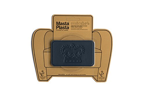 MastaPlasta Self-Adhesive Patch for Leather and Vinyl Repair, Crown, Navy - 4 x 2.4 Inch - Multiple Colors Available