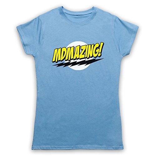 MDMAzing Parody Drug Slogan Camiseta para Mujer Azul Cielo