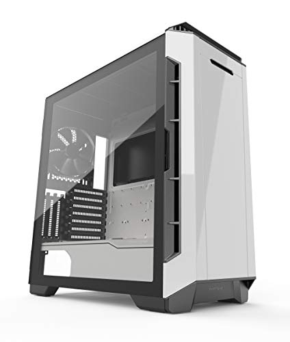 Phanteks Eclipse P600S Hybrid Silent and Performance ATX Chassis -Tempered Glass, Fabric Filter, Dual System Support, PWM hub, Sound dampening Panels, Glacier - Eclipse Hybrid
