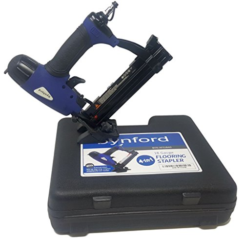BYNFORD HARDWOOD FLOORING STAPLER NAILER For conventional 5 8 under T G flooring AND SHAW type flooring groove side stapling .