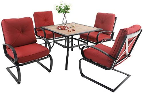 Sophia William Patio Dining Set 5 Piece Outdoor Table Furniture Set