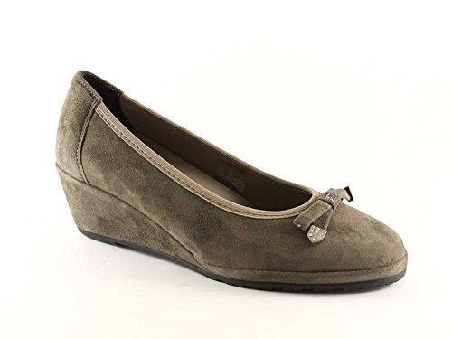 GRUNLAND RINA donna taupe ballerine zeppetta scarpe Grigio SC0148 rrTqwndSxO