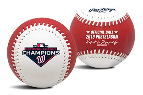 Jarden 2019 NLCS Champions Washington Nationals Rawlings MLB Replica Game Logo Baseball