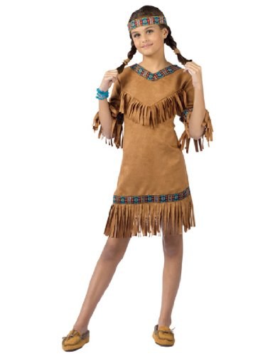 Pocahontas Costumes For Kids (American Indian Girl Child Large Size 12-14)