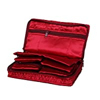Kuber Industries™ Jewellery Kit / Make Up Kit/ Wedding Collection Gift In Satin (Maroon)