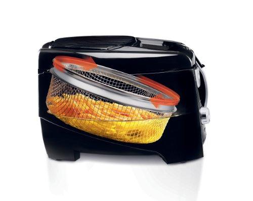 DeLonghi D28313UXBK Roto Deep Fryer, Black/Silver