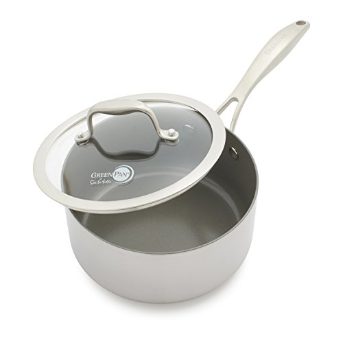 GreenPan Diamond Clad Ceramic Nonstick Saucepan CW001987-002 , 2 qt.