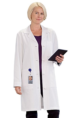 Twelve Cotton Coat (Meta Women's 38 Inch 100% Cotton White Medical LabcoatWhite 12)