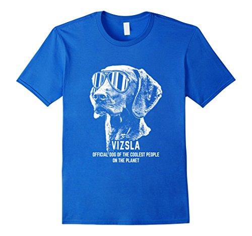 Men's Vizsla Shirt Official Dog of the Coolest People Small Royal Blue