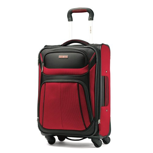 Samsonite Luggage Aspire Sport Spinner 21 Expandable Bag, Red/Black, Carry-on