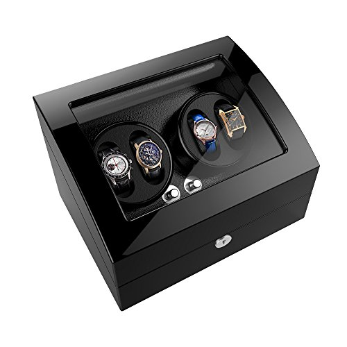 Watch Winder For Rolex Automatic Watches,Wood Shell + Piano Paint +Japanese Motor (Watch Winders Rolex)