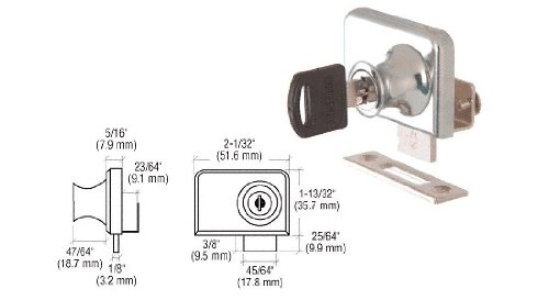 CRL Chrome Plated Lock for 1/4
