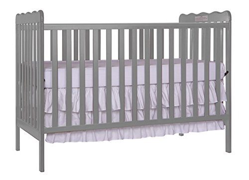 (Furniture World Chelsea Crib with Toddler Gate, Gray)