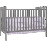 Furniture World Chelsea Crib with Toddler Gate, Gray
