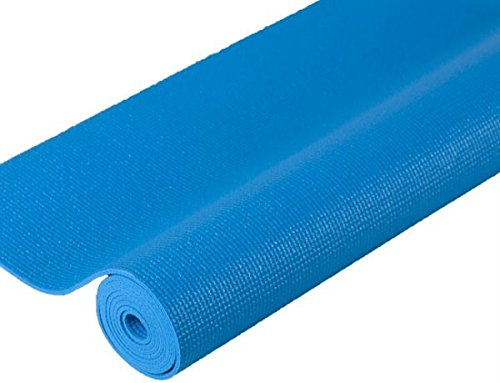 j/fit Premium Sticky Yoga Mat, 72-Inch, Aqua Blue