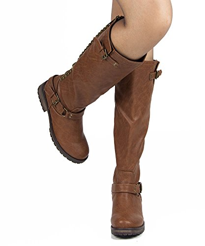 Breckelles Women Trooper-14 Boots New Tan Pu