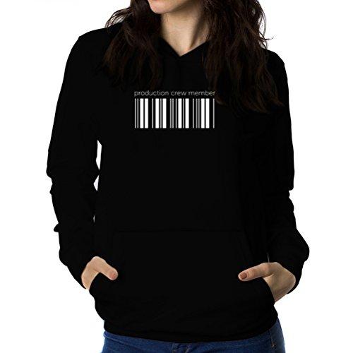 見分けるインストラクターワゴンProduction Crew Member barcode 女性 フーディー
