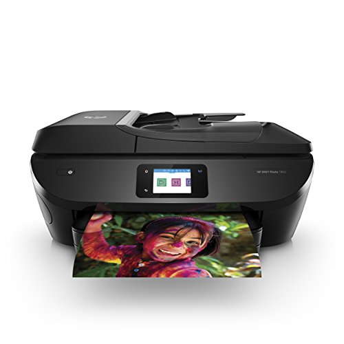 HP ENVY Photo 7855 All in One Photo Printer with Wireless Printing, HP Instant Ink & Amazon Dash Replenishment ready (K7R96A) (5 Color Printer)