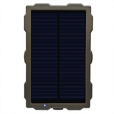 IP66 Waterproof Solar Power Bank for Wildlife Outdoor Hunting Camera Anti-Shock Durable Solar Panel 1500mAh