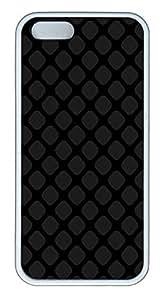 iPhone 5 5S Case Patterns Square Tilt TPU Custom iPhone 5 5S Case Cover White