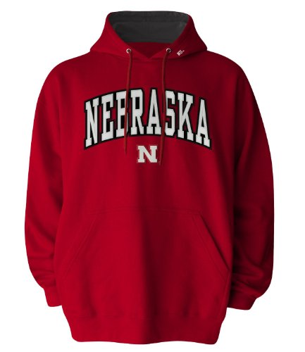 NCAA Men's Nebraska Cornhuskers Hooded Sweatshirt (Red, Medium)