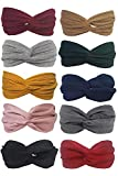BeautyN 10 Pack Headbands for women Boho Bands Twisted Headband Criss Cross Head wraps Bows Hair Accessories for Women and Girls (10p_101)