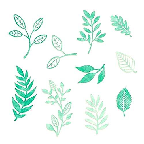 Die Cut Leaves - Blend & Bloom Greenery Nature & Leaves Embellishments Scrapbook Die Cuts by Creative Memories