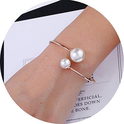 Bangles Bangle Shell (ASHMITA Rose Gold Bangle for Women Shell Pearl Cuff Fashion Bracelet Adjustable)