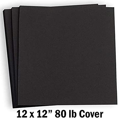 Amazon.com: Hamilco - Papel de cartulina de color negro para ...