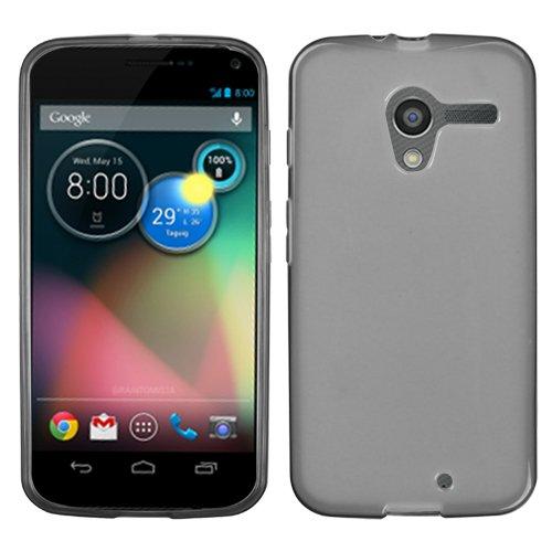 MYBAT Semi transparente caramelo piel cubierta (goma) para Motorola Moto X–Embalaje de venta–humo