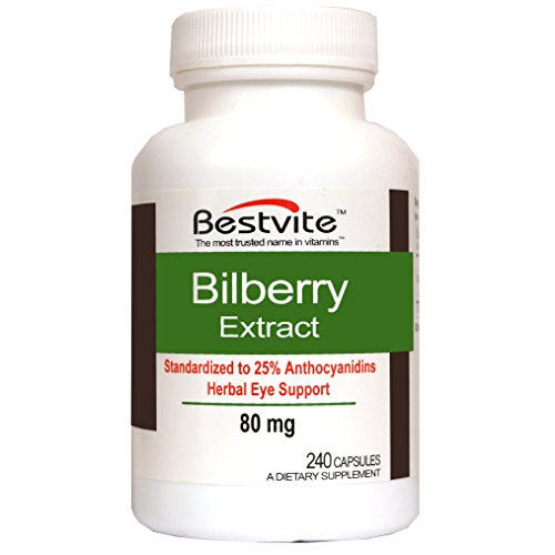 Bilberry Extract 80mg (240 Capsules) For Sale